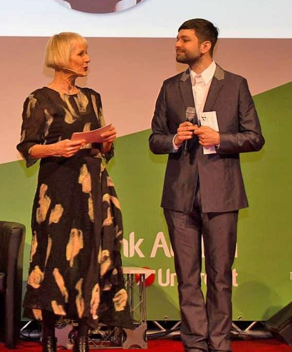Heilwig Pfanzelter und Gabriel Baradee bei der Senior Aktuell 2013