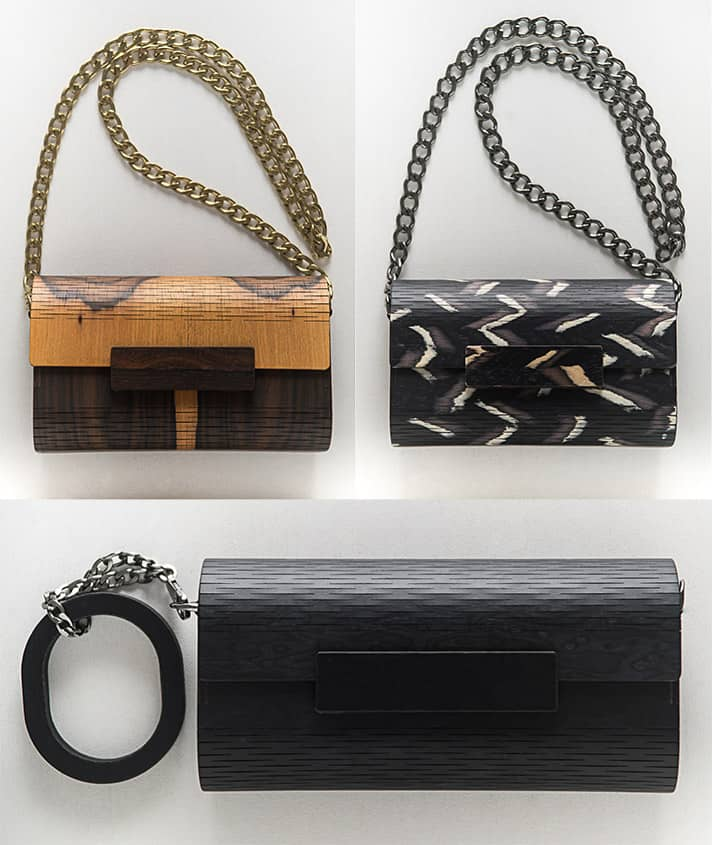 Wooden Clutches by Marita Moreno